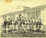 Lincoln School Sixth Grade - Mr. Don Hamilton later taught dancing at Sequoia. In the picture are Sequoians Ernie Strehl