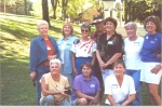 Class of 1960 attendees at the Sequoia Foothills Reunion in 2001- another shot