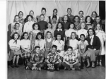 5th grade Lincoln School  Teacher Ms. Connor (Geraldine?)-Mother of Mary Kinnick?  Top row L-R: Hugh Stanley/Lawrence Hu