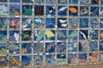 Tiled wall by the Sequoia pool - we never had such art in the 'old days!'